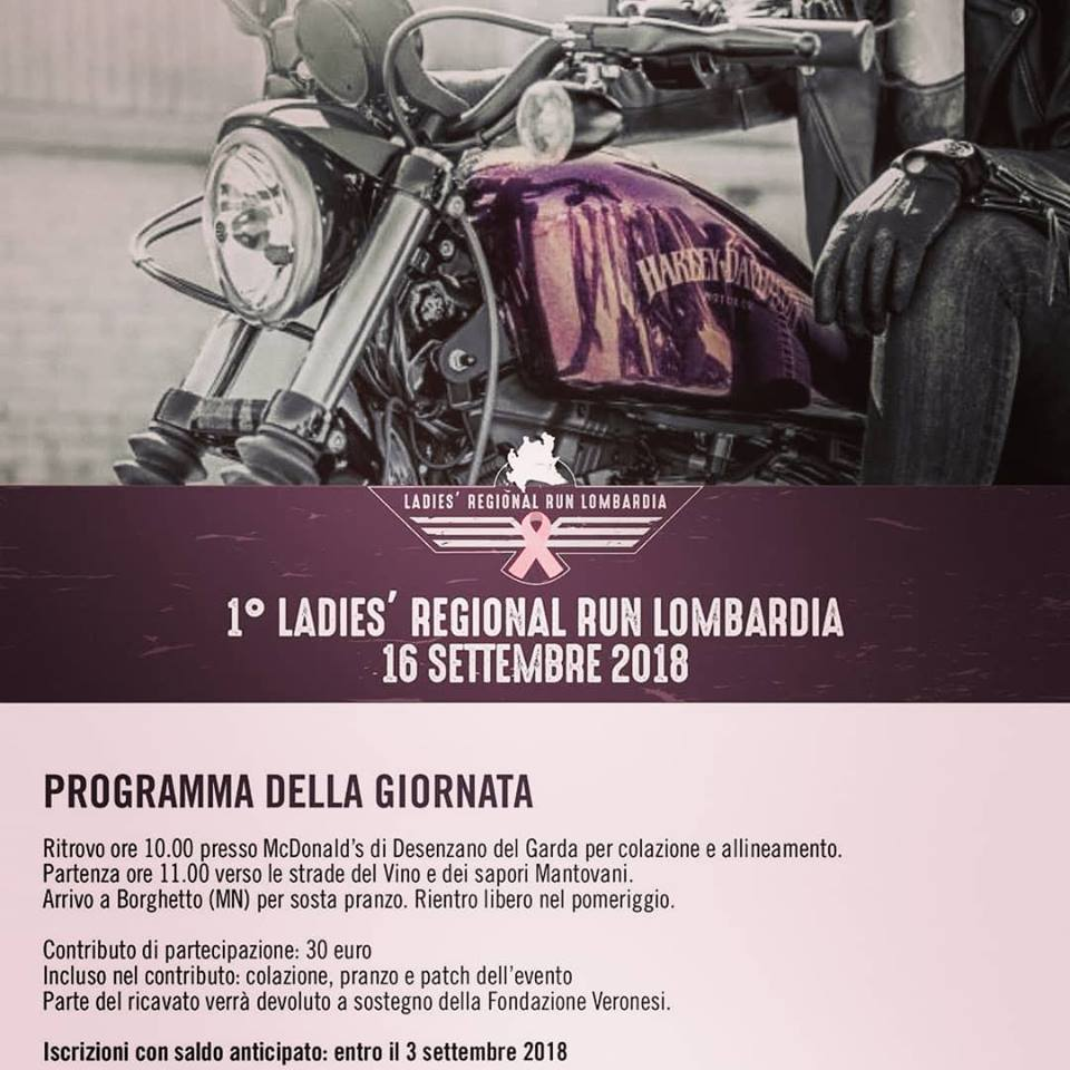 1° LADIES REGIONAL RUN LOMBARDIA